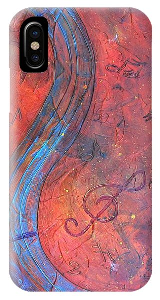 IPhone Case featuring the painting Musical Craze by Phyllis Howard