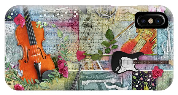 Musical Garden Collage IPhone Case