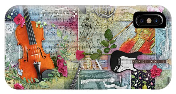 Musical Garden Collage IPhone Case