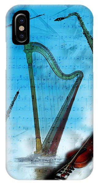 Harp iPhone Case - Musical Instruments by Angel Jesus De la Fuente
