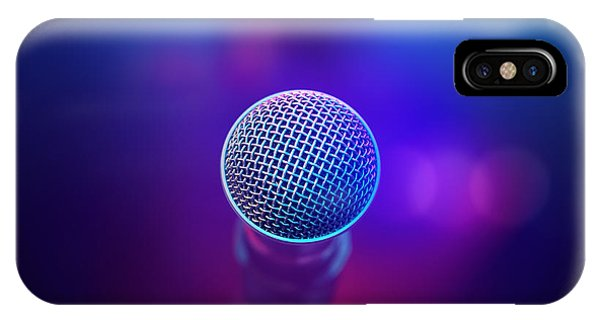 Musical iPhone Case - Musical Microphone On Stage by Johan Swanepoel