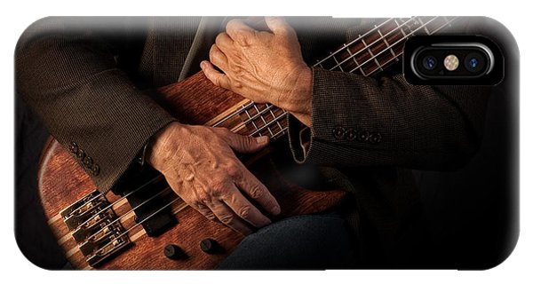 Electric Guitar iPhone Case - Musician's Hands by David and Carol Kelly