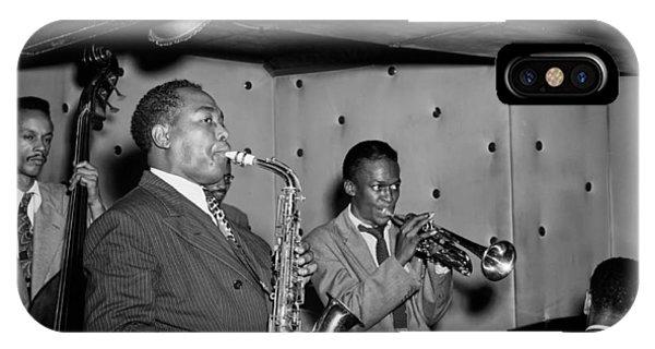 Music's Golden Era - Charlie Parker And Miles Davis 1947 IPhone Case
