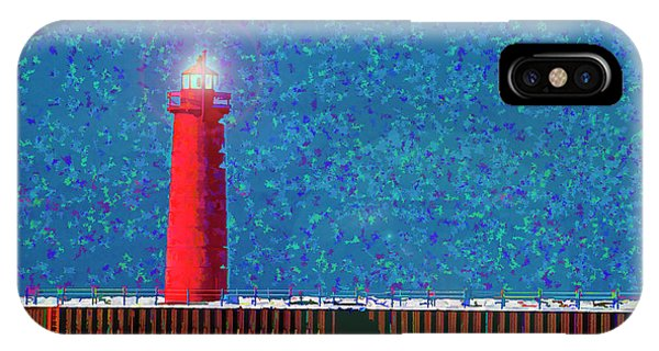 Muskegon Lighthouse Phone Case by Marti Buckely