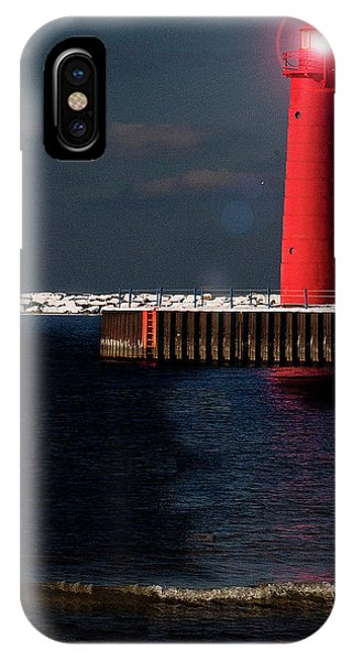 Muskegon Mi Lighthouse Phone Case by Marti Buckely
