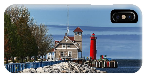 Muskegon Pierhead Light IPhone Case