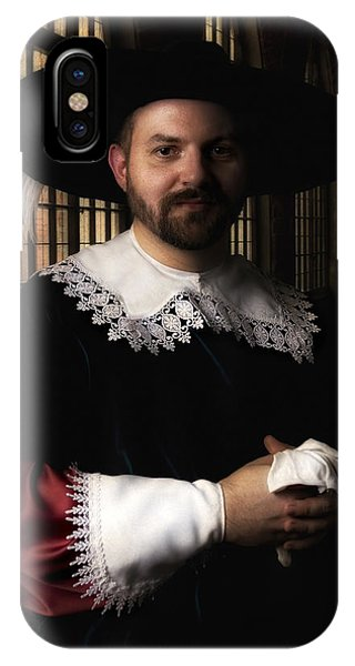 Musketeer In The Old Castle Hall IPhone Case