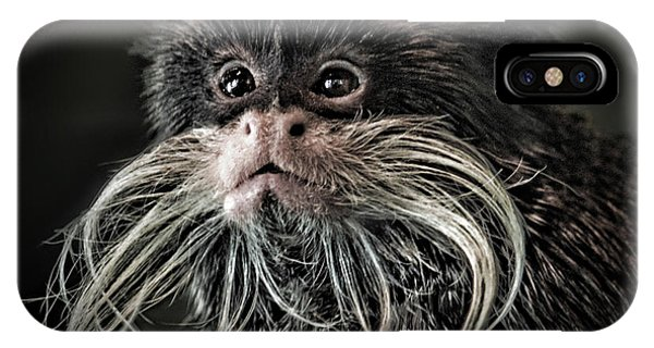 Mustache Monkey IIi Altered IPhone Case
