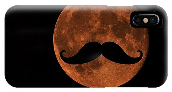 Mustache Moon IPhone Case