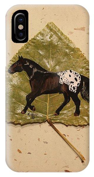 Mustang Appaloosa On Poplar Leaf IPhone Case