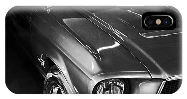Mustang In Black And White IPhone Case