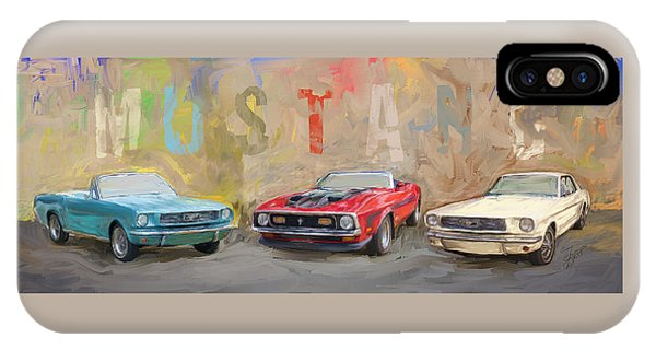 Mustang Panorama Painting IPhone Case