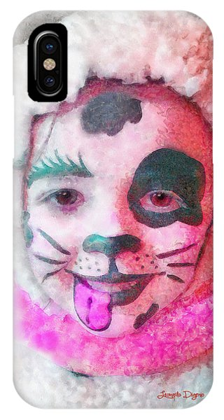 Having Fun iPhone Case - Mutant Dalmatian  - Watercolor Style -  - Da by Leonardo Digenio