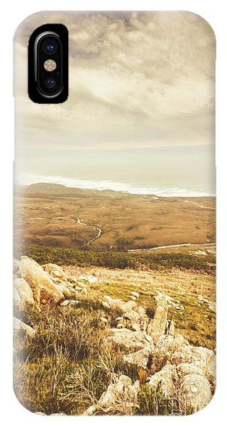 Trial iPhone Case - Muted Mountain Views by Jorgo Photography - Wall Art Gallery