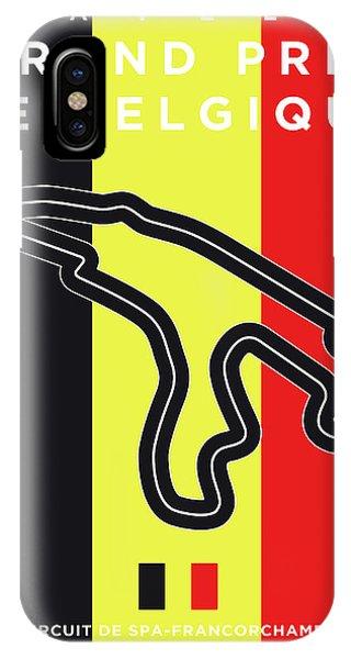Spa iPhone Case - My 2017 Grand Prix De Belgique Minimal Poster by Chungkong Art