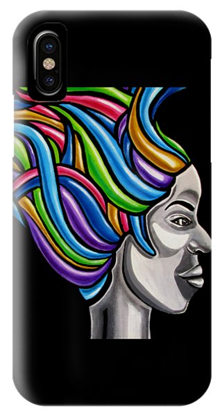 Abstract Female Face Artwork - My Attitude IPhone Case