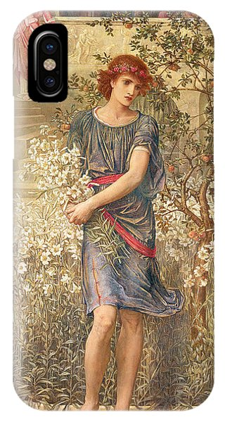 My Son iPhone Case - My Beloved Has Gone Down To His Garden by John Melhuish Strudwick