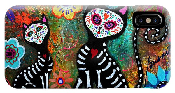 My Cats Dia De  Los Muertos IPhone Case