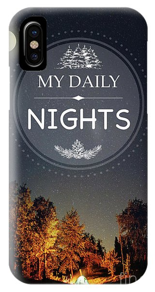 Outdoors iPhone Case - My Daily Nights by Jean Plout