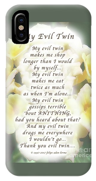 My Evil Twin Greeting Card And Poster IPhone Case