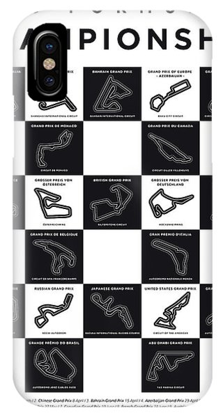 Spa iPhone Case - My F1 Season 2018 Race Track Minimal Poster by Chungkong Art