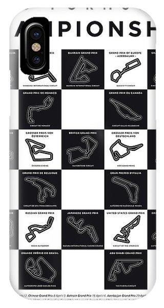 My F1 Season 2018 Race Track Minimal Poster IPhone Case