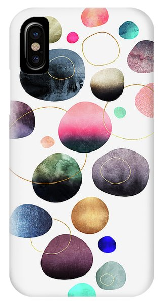 Graphic Design iPhone X Case - My Favorite Pebbles by Elisabeth Fredriksson