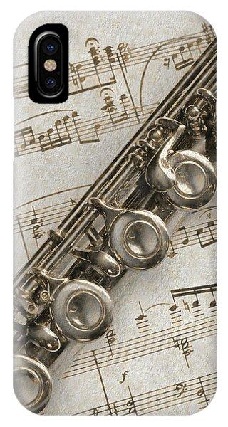 My Flute Photo Sketch IPhone Case