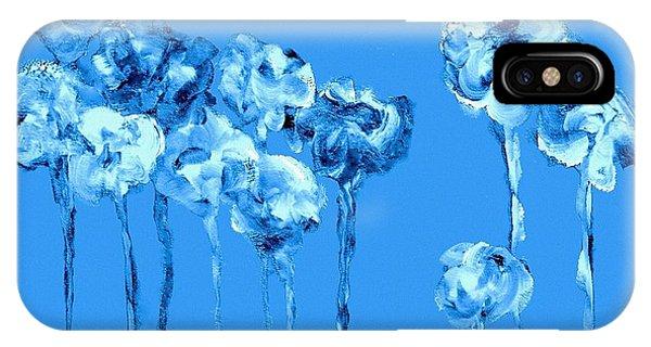 My Garden - Blue IPhone Case