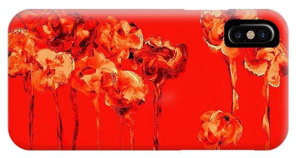 My Garden - Red IPhone Case