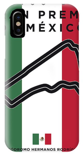 My Gran Premio De Mexico Minimal Poster IPhone Case