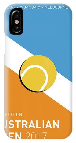 Event iPhone Case - My Grand Slam 01 Australian Open 2017 Minimal Poster by Chungkong Art