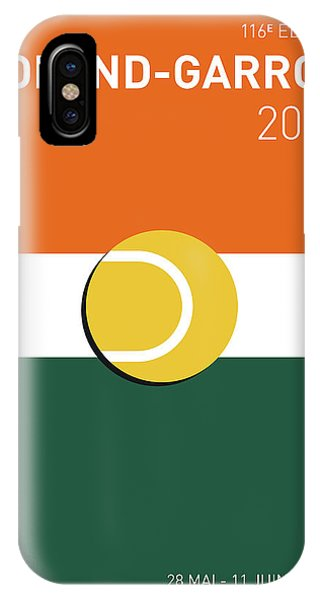 My Grand Slam 02 Rolandgarros 2017 Minimal Poster IPhone Case