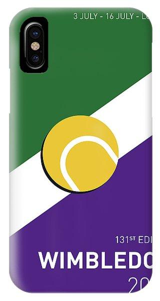 Tennis iPhone Case - My Grand Slam 03 Wimbeldon Open 2017 Minimal Poster by Chungkong Art
