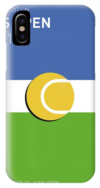 Open iPhone Case - My Grand Slam 04 Us Open 2017 Minimal Poster by Chungkong Art