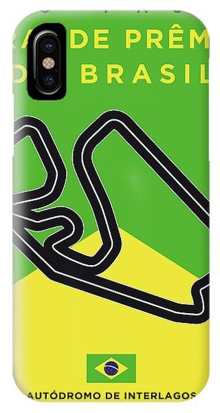 My Grande Premio Do Brasil Minimal Poster IPhone Case