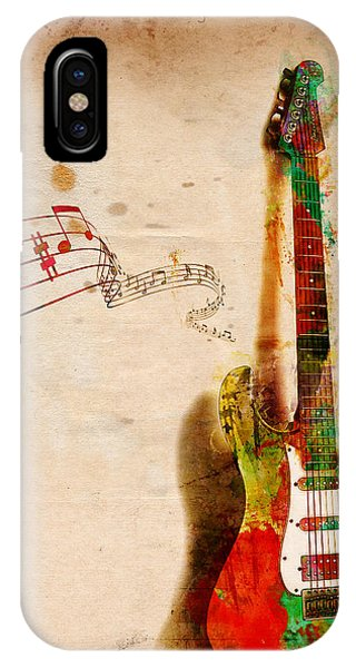 Rock And Roll Art iPhone Case - My Guitar Can Sing by Nikki Smith