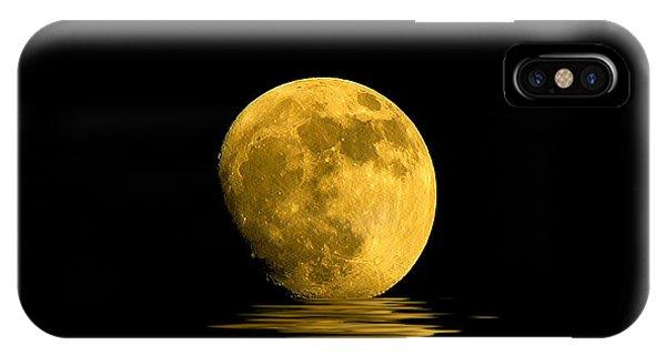 Moon iPhone X Case - My Harvest Moon by Lynn Andrews
