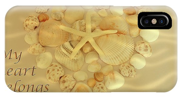 IPhone Case featuring the photograph My Heart Belongs To The Sea by Angie Tirado