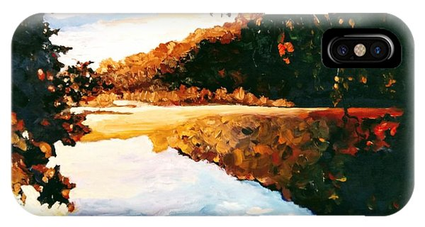 IPhone Case featuring the painting My Horizon by Ray Khalife