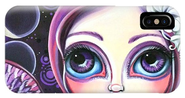 Fantasy iPhone Case - My moon Phase Angel Original by Jaz Higgins