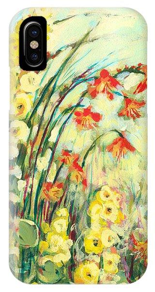 Yellow Flowers iPhone Case - My Secret Garden by Jennifer Lommers