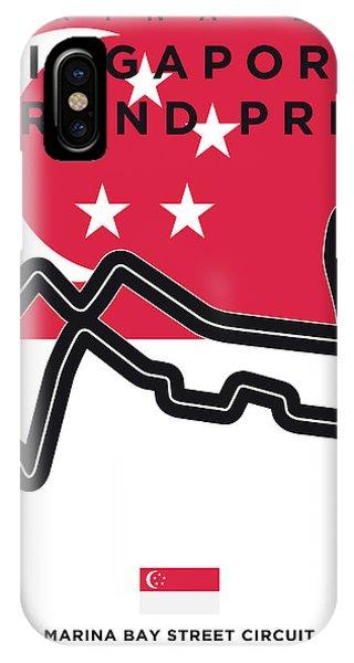 My Singapore Grand Prix Minimal Poster IPhone Case