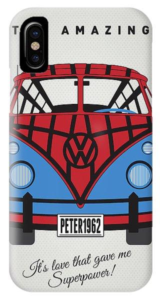 Fantastic iPhone Case - My Superhero-vw-t1-spiderman by Chungkong Art