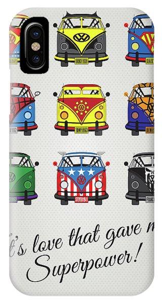 Fantastic iPhone Case - My Superhero-vw-t1-supermanmy Superhero-vw-t1-universe by Chungkong Art