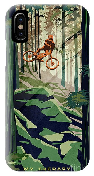 Cycling iPhone Case - My Therapy by Sassan Filsoof