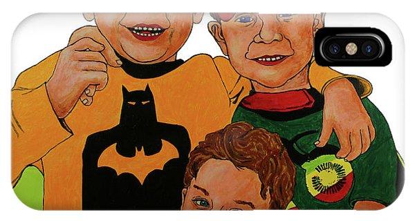 iPhone Case - My Three Grandsons by Rich Travis