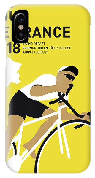 Cycling iPhone Case - My Tour De France Minimal Poster 2018 by Chungkong Art