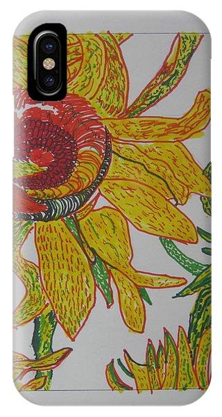 My Version Of A Van Gogh Sunflower IPhone Case