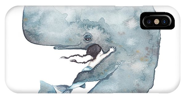 Whale iPhone Case - My Whale by Soosh
